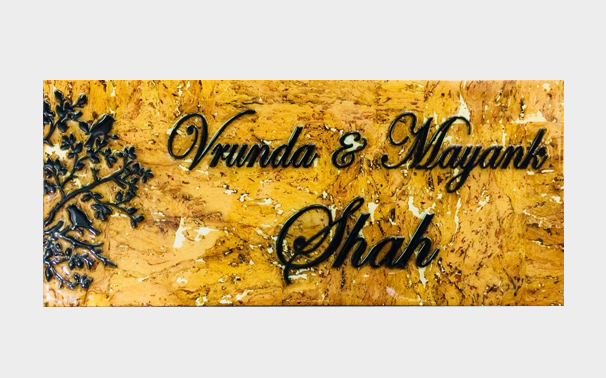 Designer name plate makers in thane west sanghvi arts call us now tel 91 9892979374 for Marathi name plate designs home
